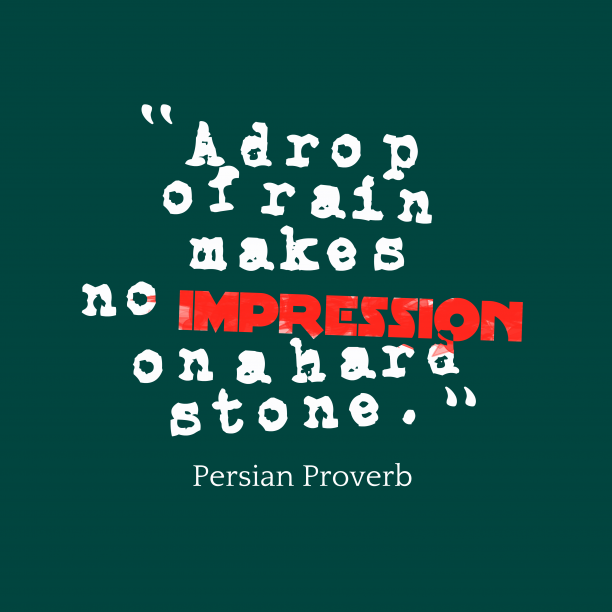 Persian Wisdom 's quote about . A drop of rain makes…