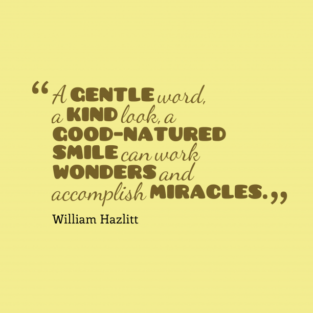 William Hazlitt quote about smile.