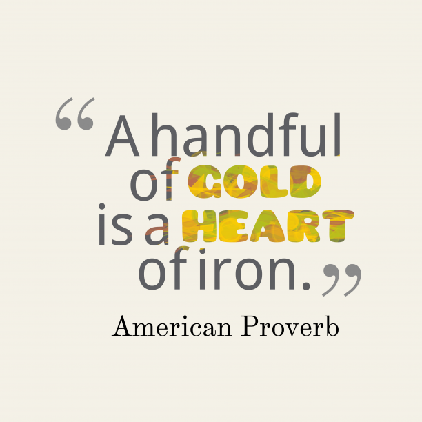 American proverb about labor.