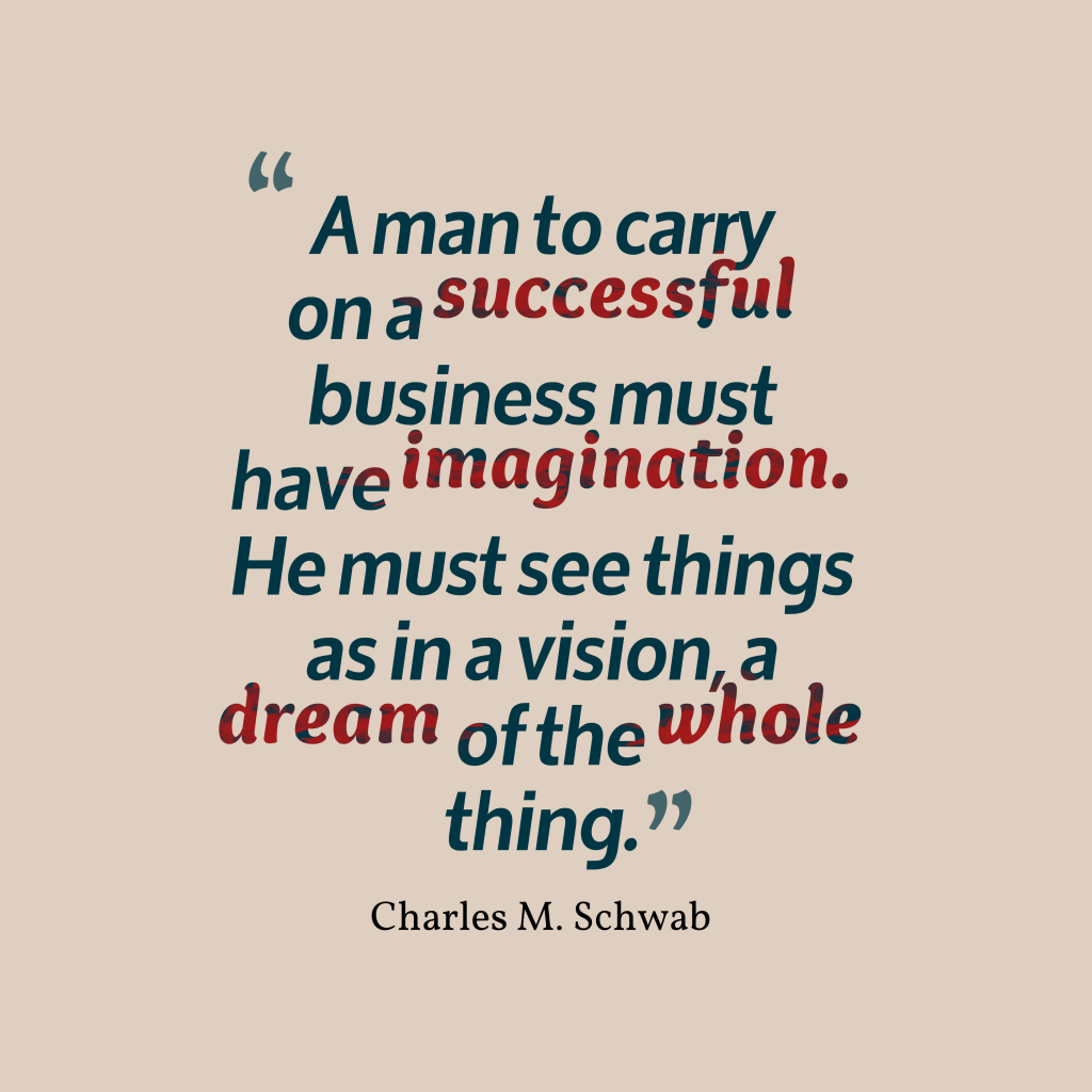 Charles M. Schwab quote about imagination.