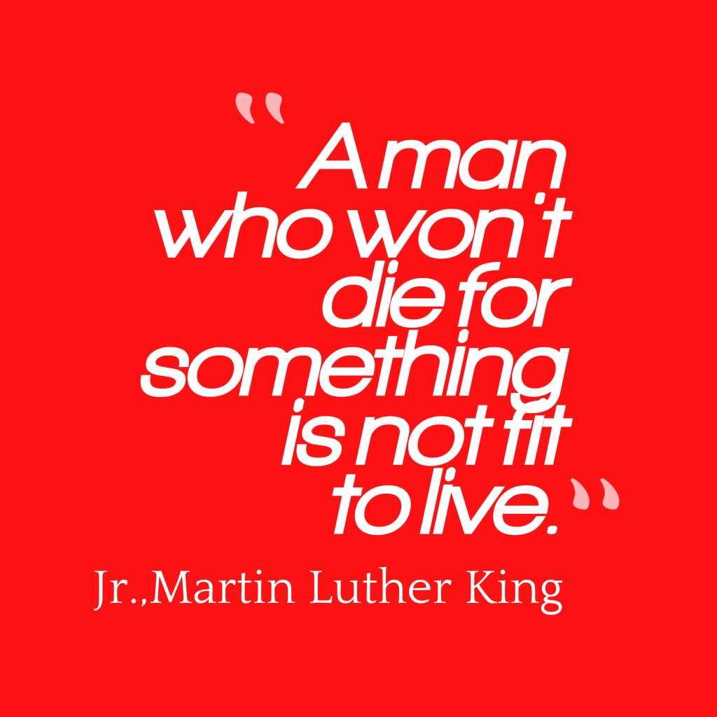 Martin Luther King, Jr. quote about death.