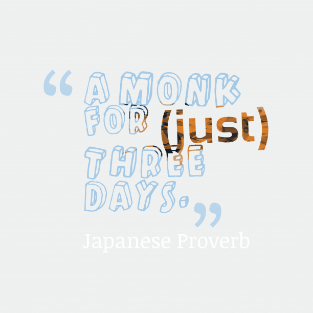 Japanese wisdom about giving up.
