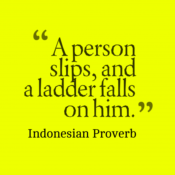 Indonesian proverb about bad.