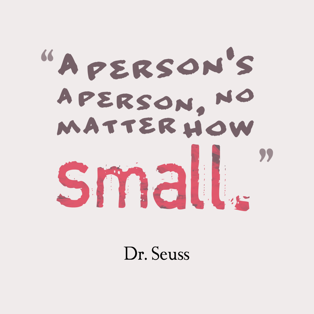 Dr. Seuss quote about person.