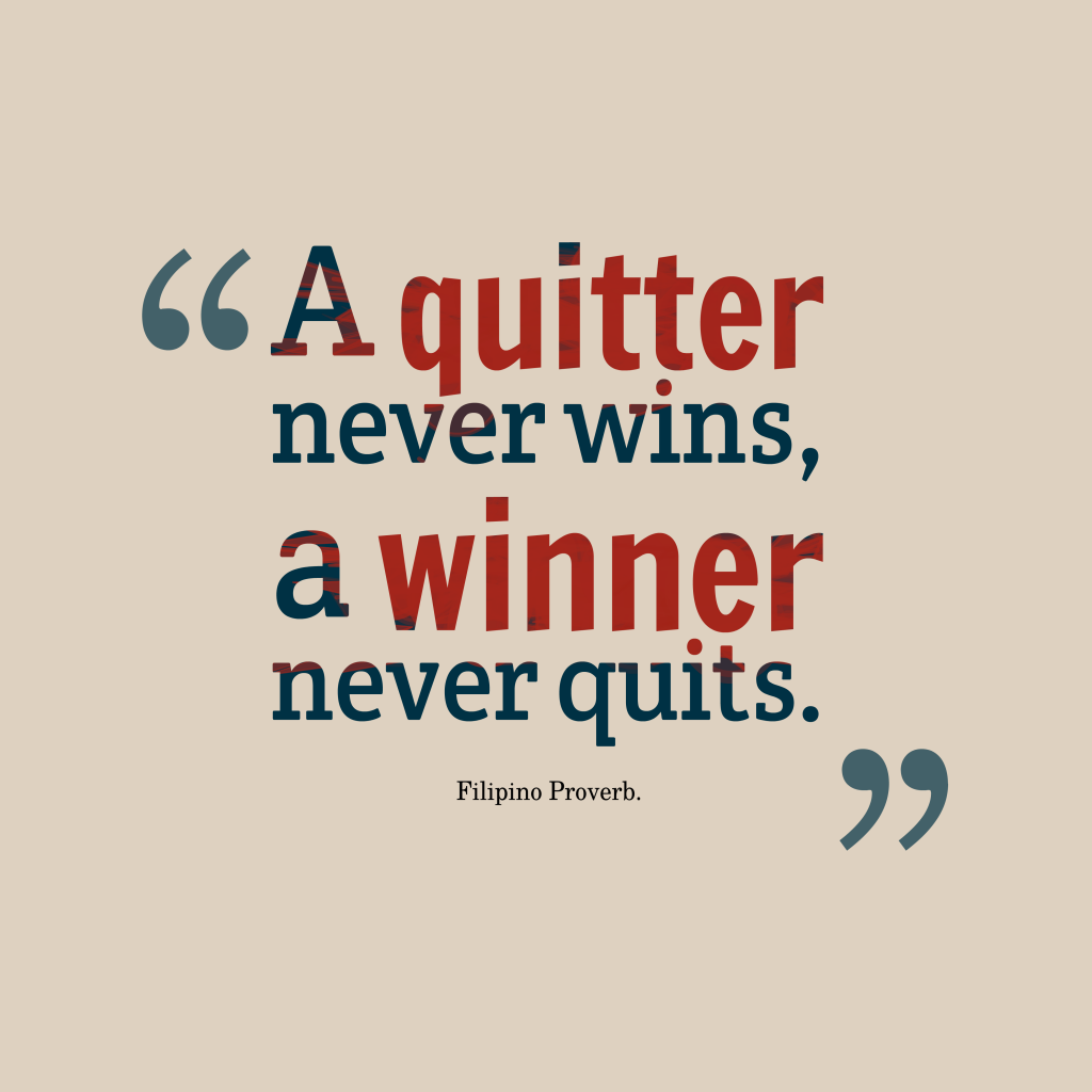 Filipino proverb about winer.