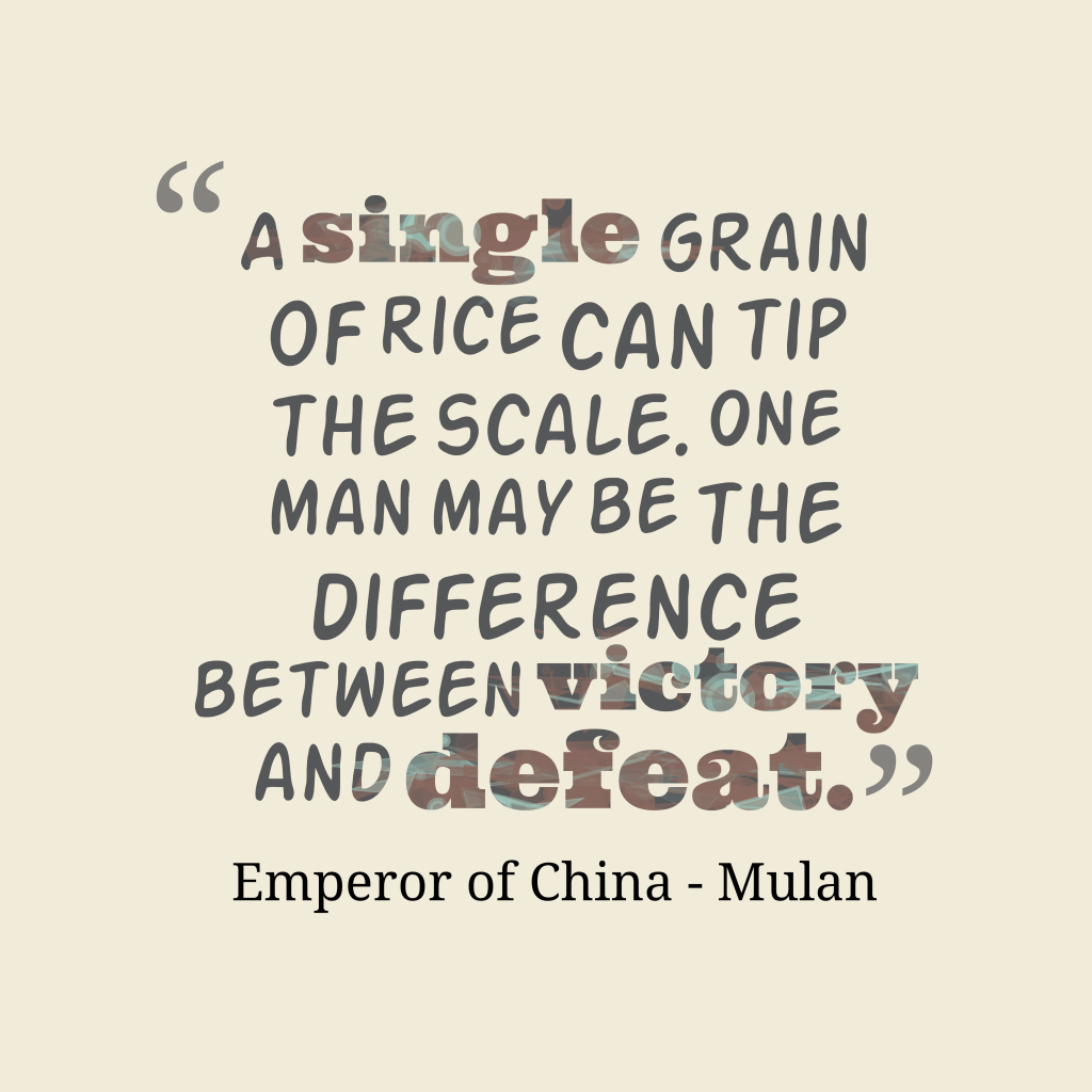 Emperor of China quote about problem.