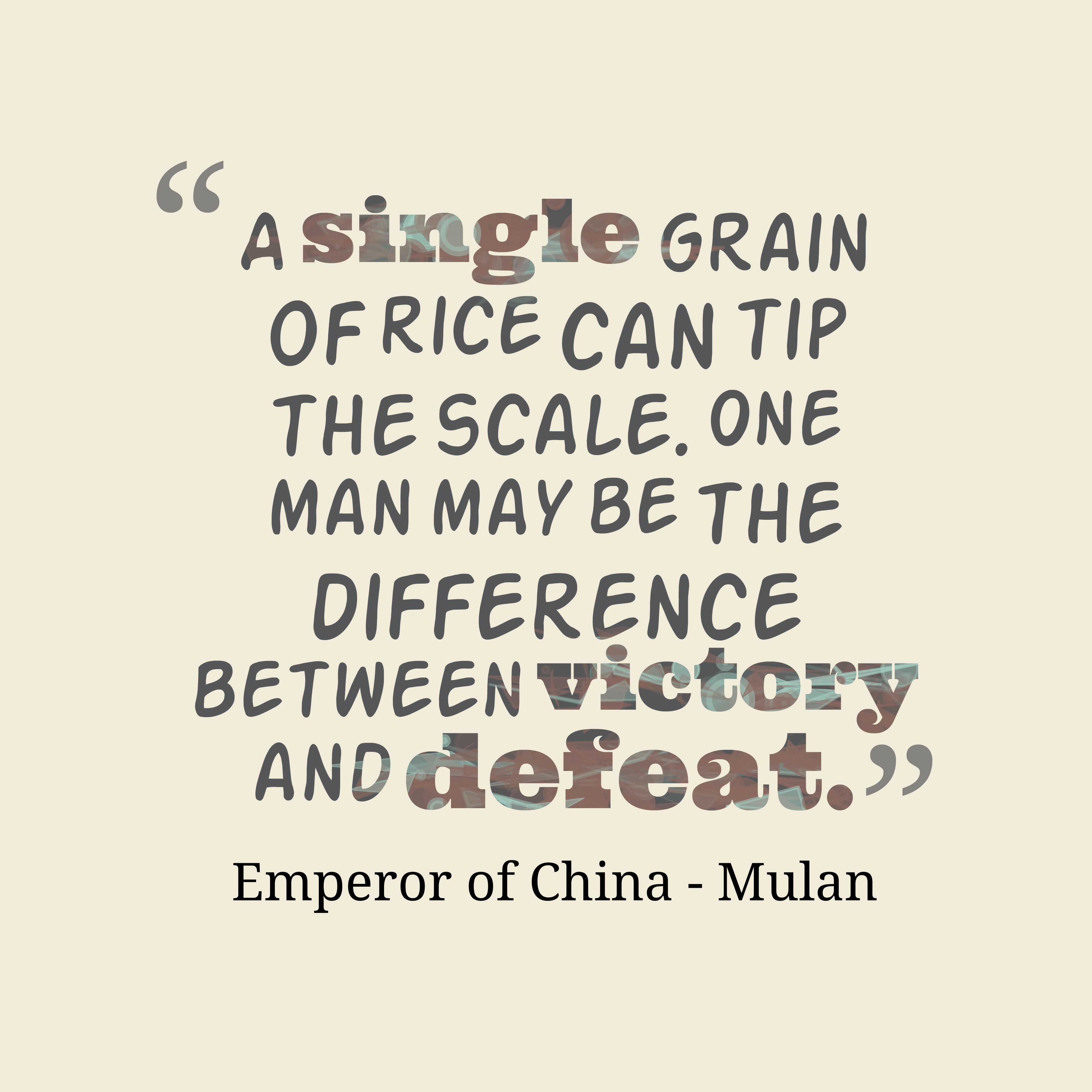 Emperor Of China Quote About Problem