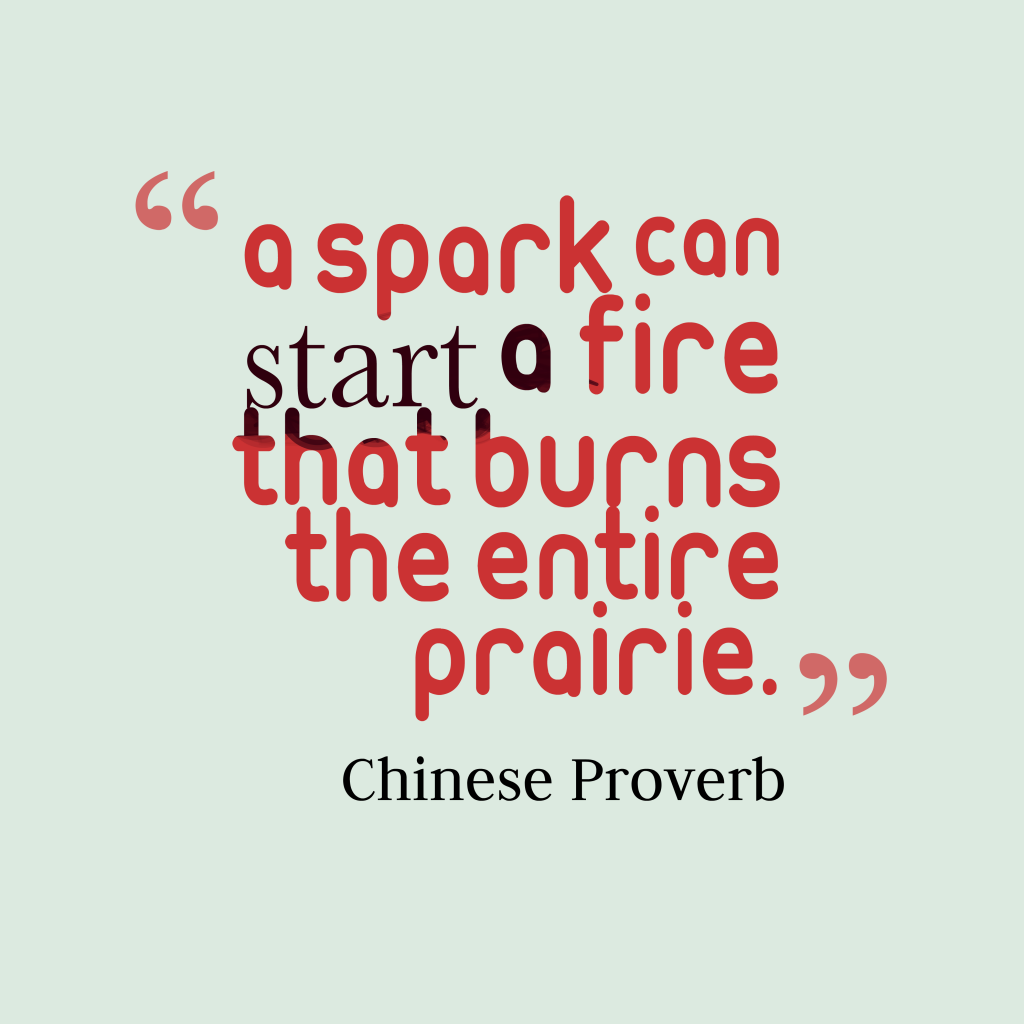 Chinese proverb about power.