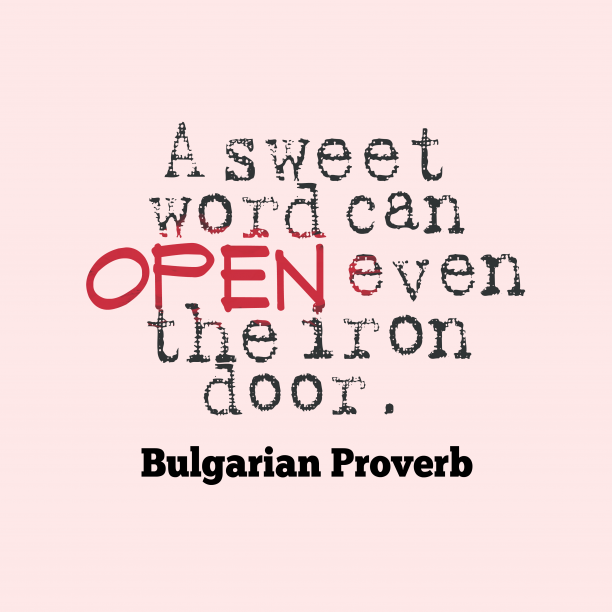 Bulgarian wisdom about passion.