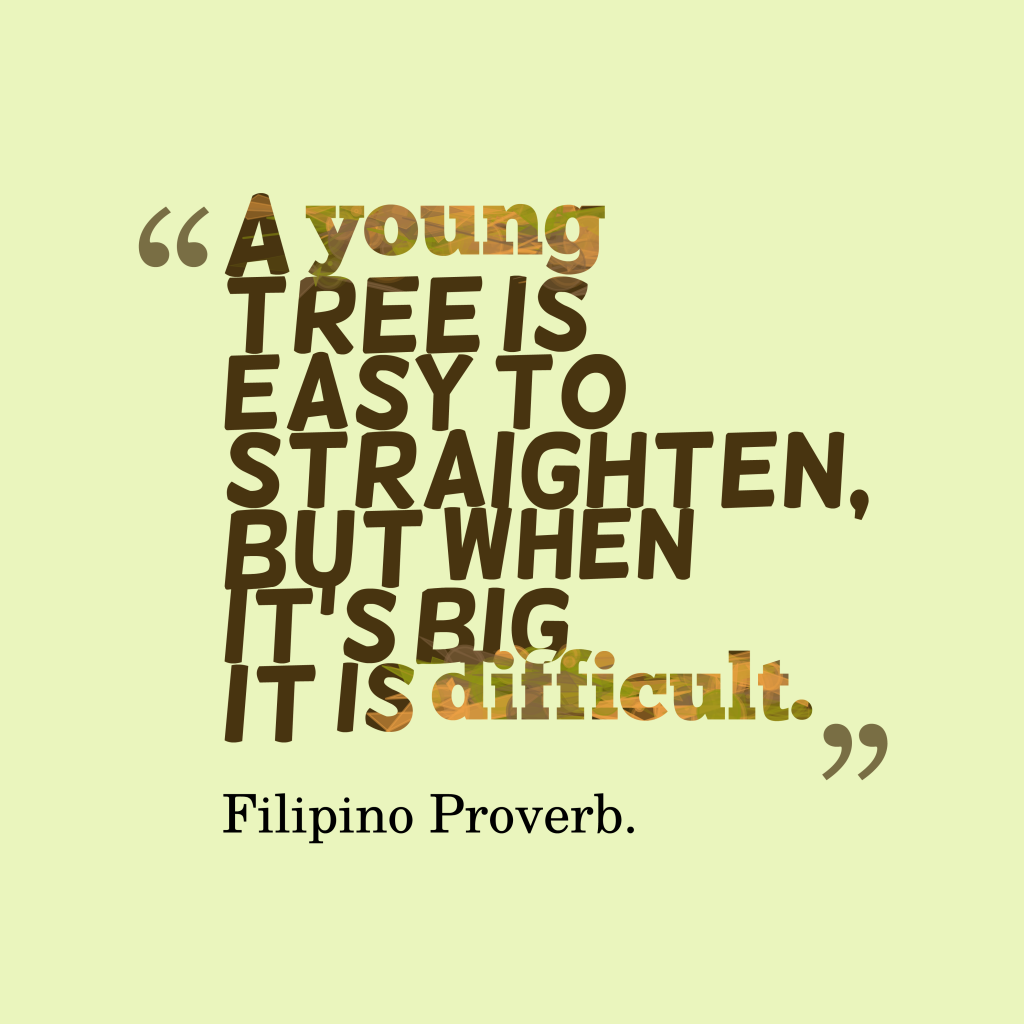 Filipino proverb about obstacle.