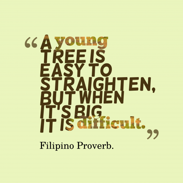 Filipino wisdom about obstacle.