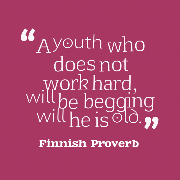 Finnish Wisdom 's quote about . A youth who does not…