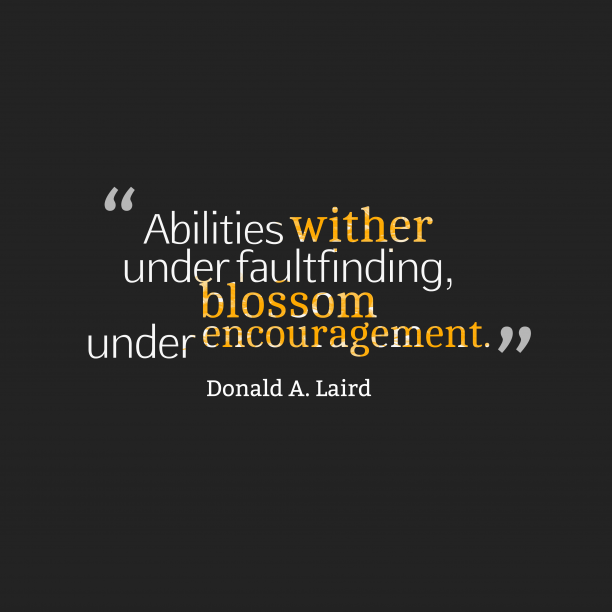 Donald A. Laird quote about abilities.