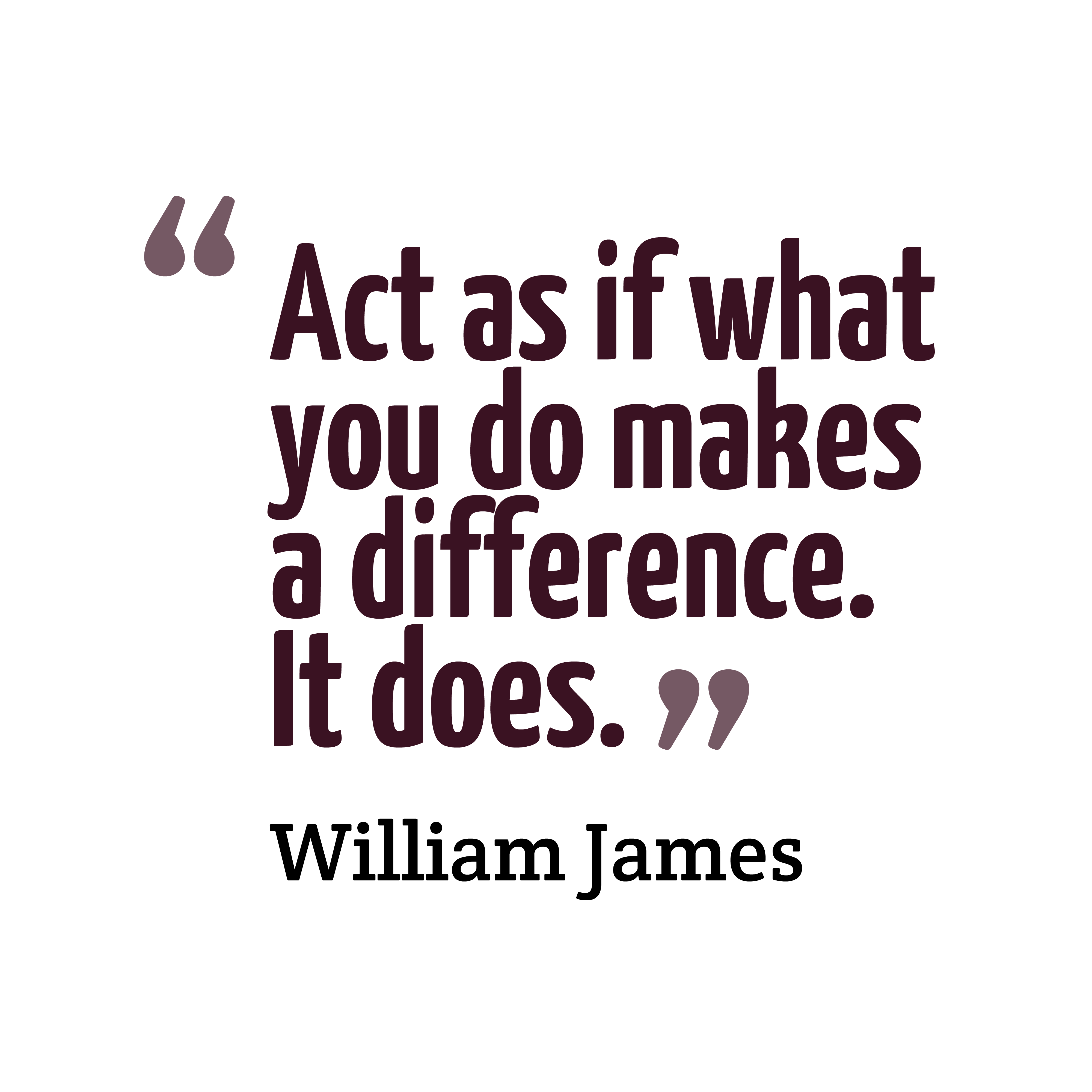 Quotes image of Act as if what you do makes a difference. It does.