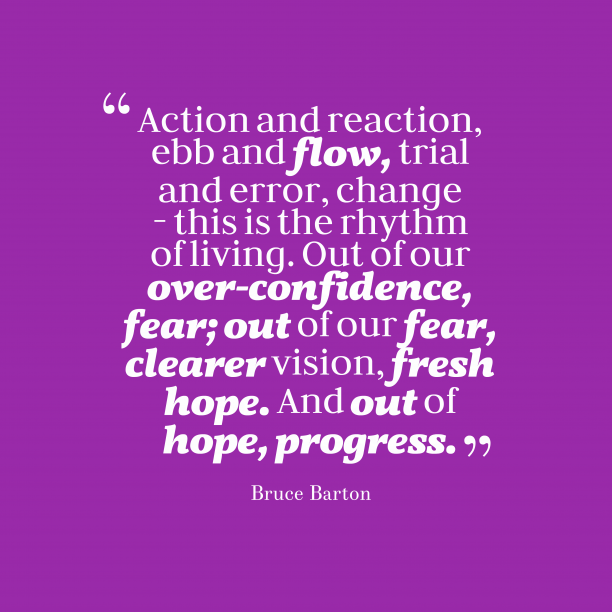 Bruce Barton quote about hope.