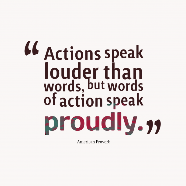 American wisdom about speak.