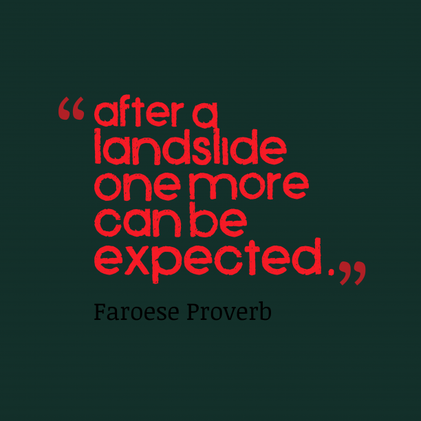 Faroese wisdom about disaster.