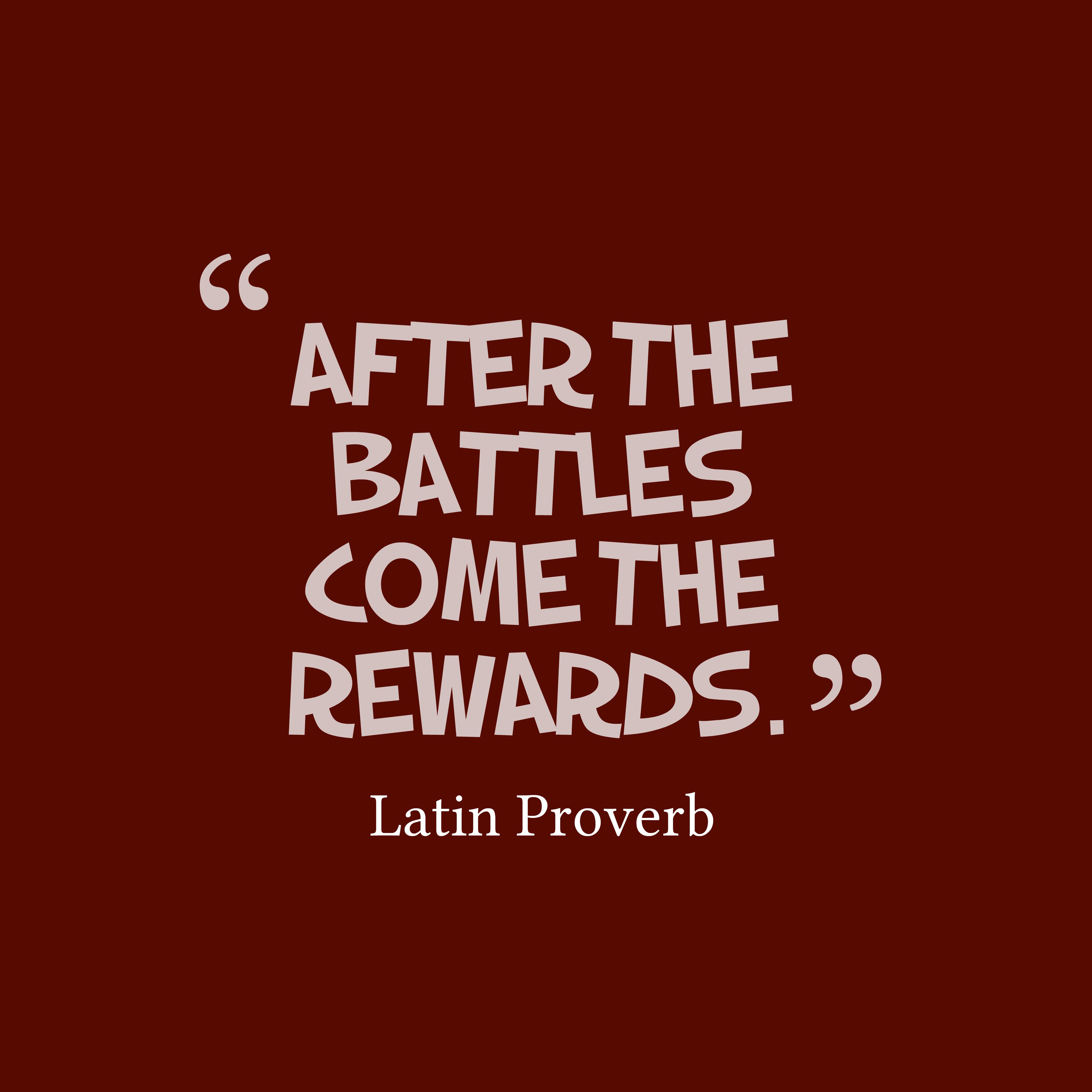 Latin Wisdom About Advertises: Latin Wisdom About Battles