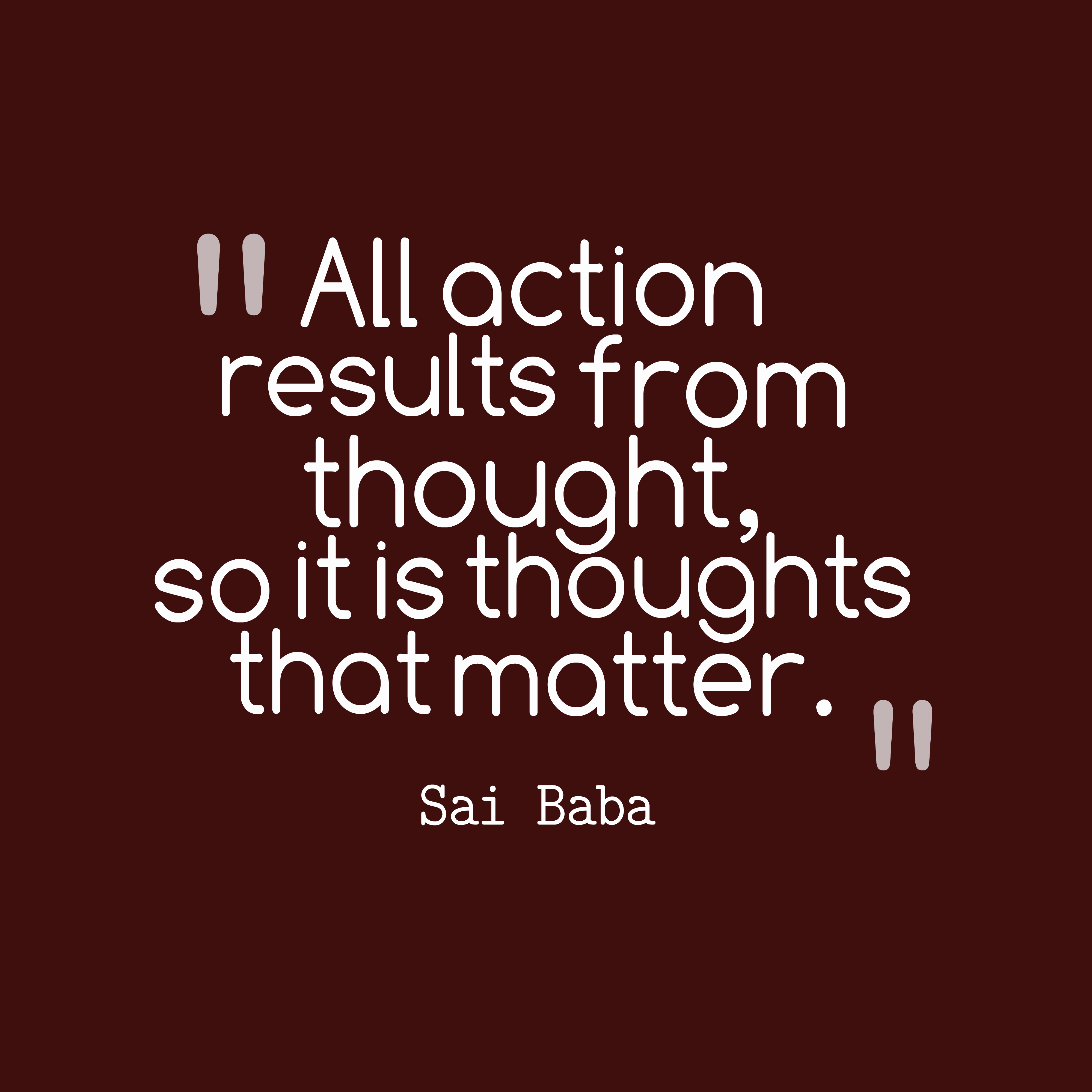 Picture » Sai Baba Quote About Action