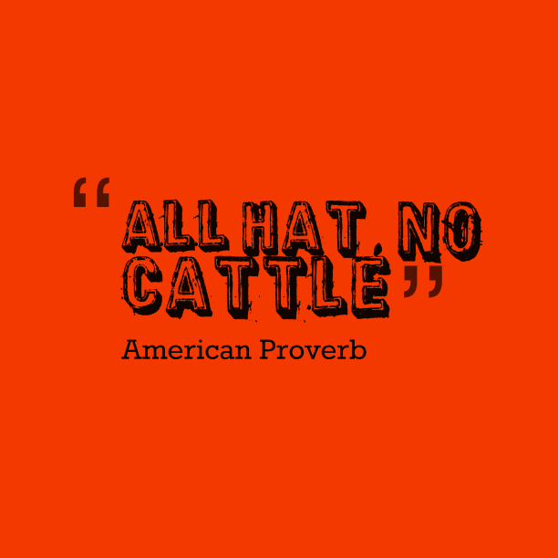 American wisdom about pretending