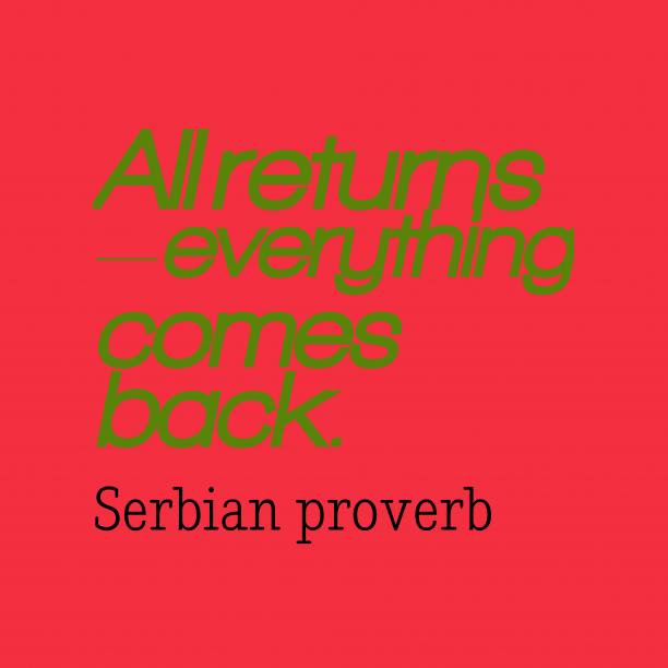 Serbian wisdom about reward.