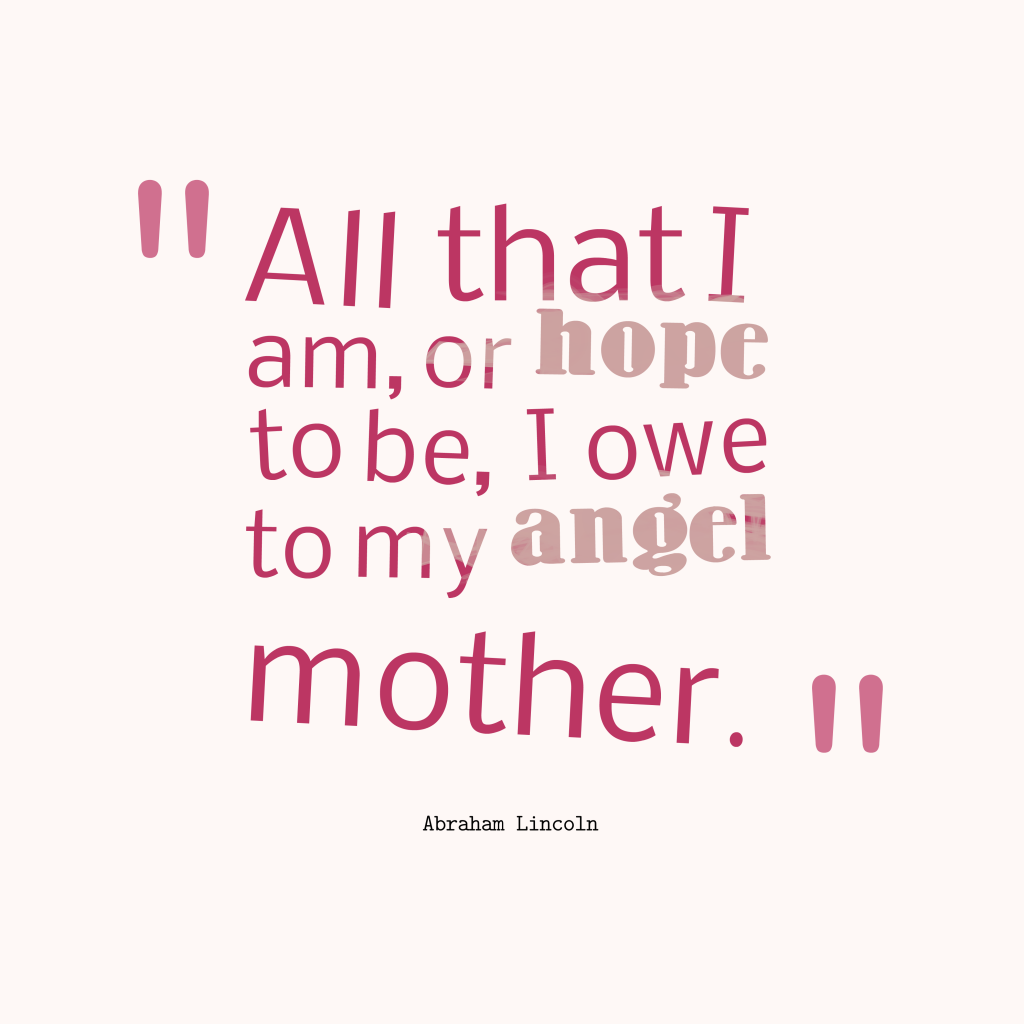 Abraham Lincoln quote about hope.