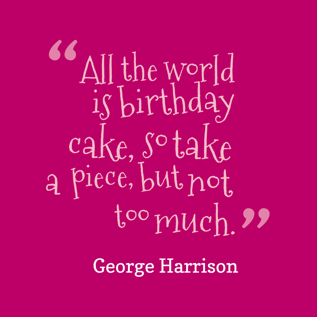 George Harrison quote about world.