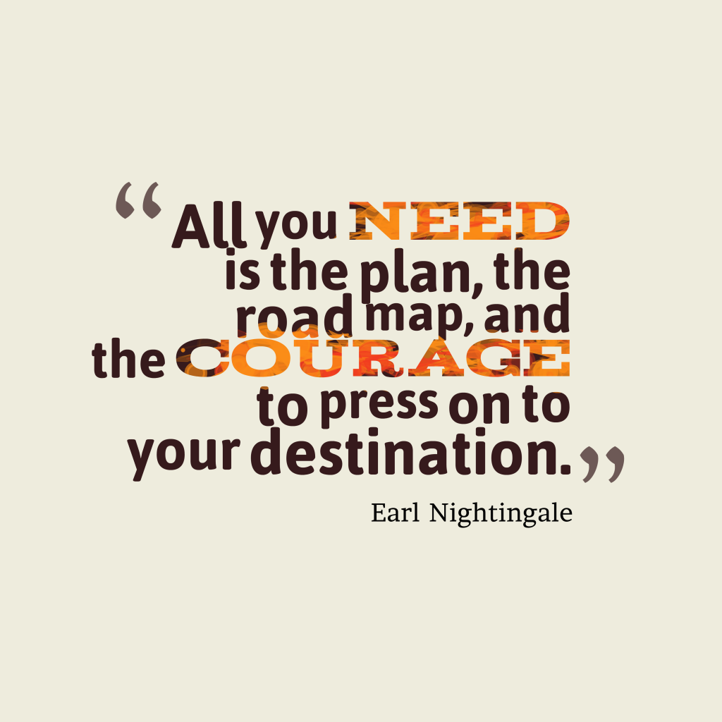 Earl Nightingale quote about plan.
