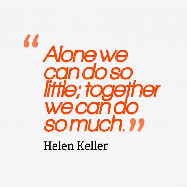 Helen Keller quote about together.