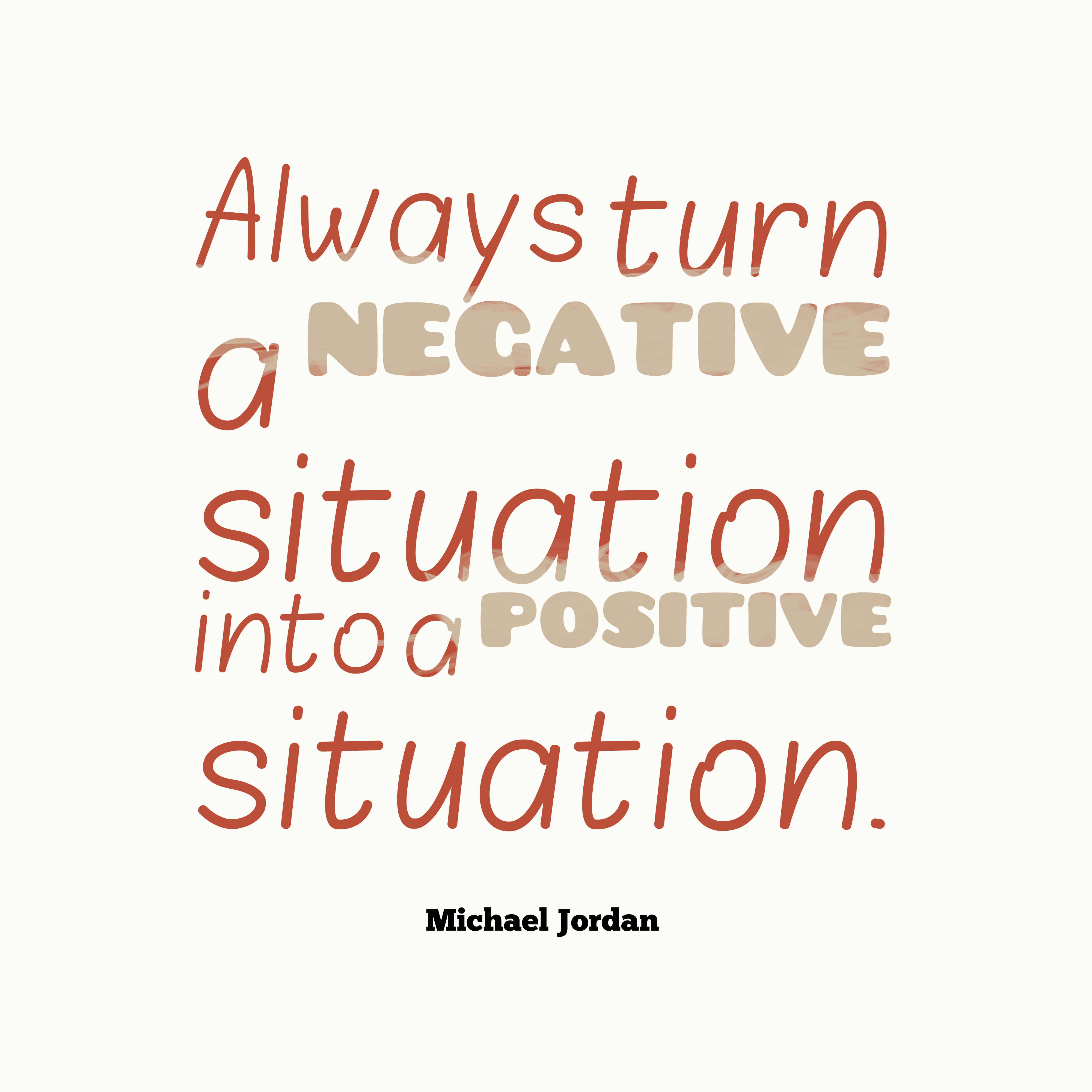 how to turn something negative into positive
