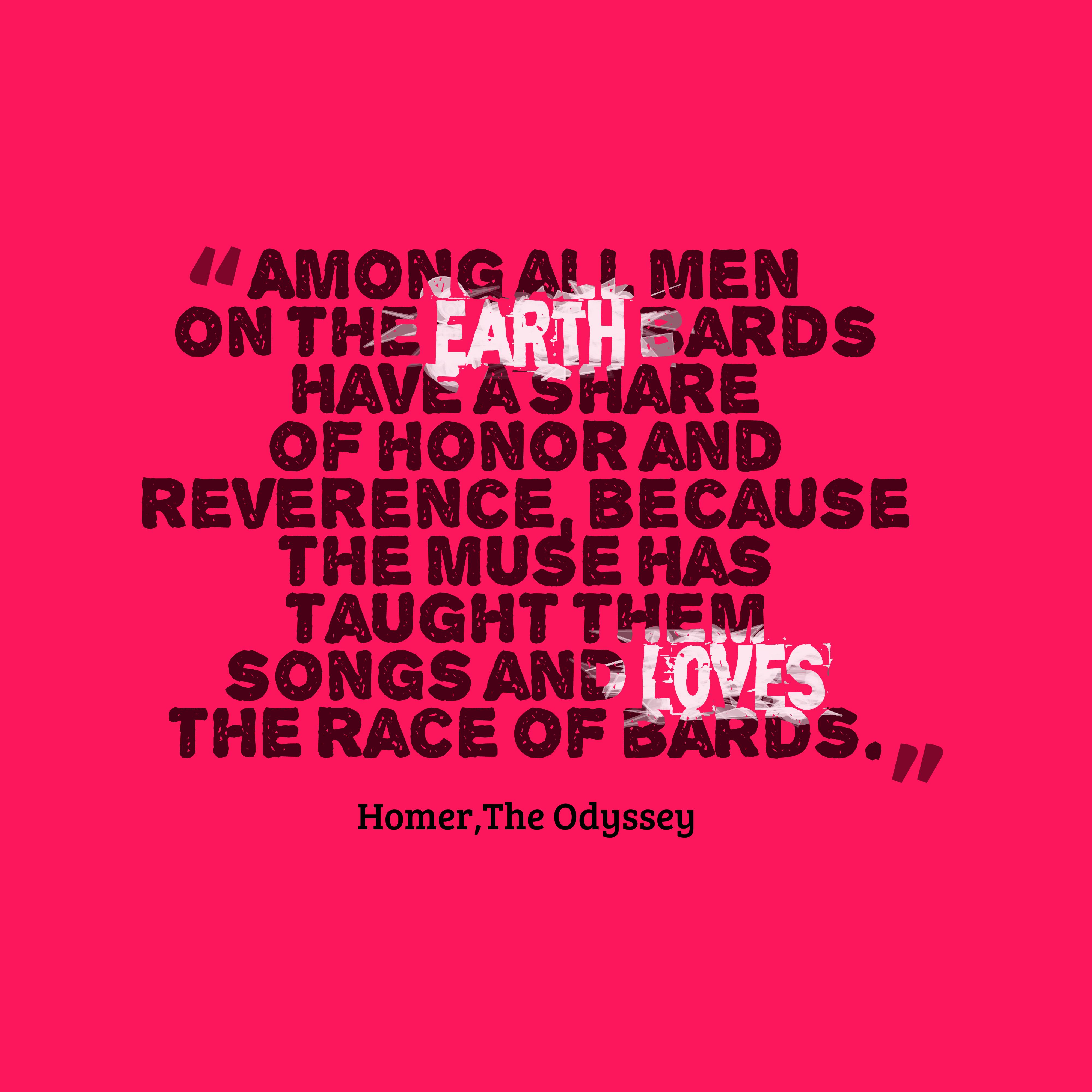 Homer Love Quotes Odyssey - Valentine Day