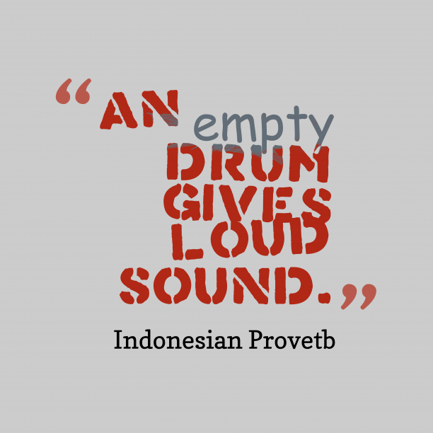 Indonesian wisdom about knowledge.