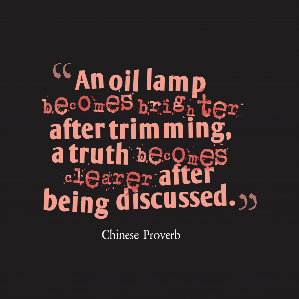 Chinese wisdom about discussion