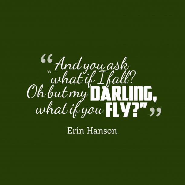 Erin Hanson quote about optimism.