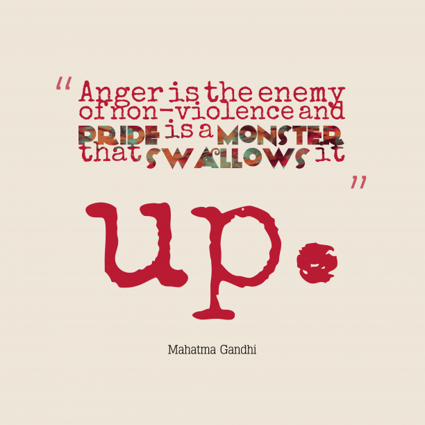 Mahatma Gandhi quoteb about anger.