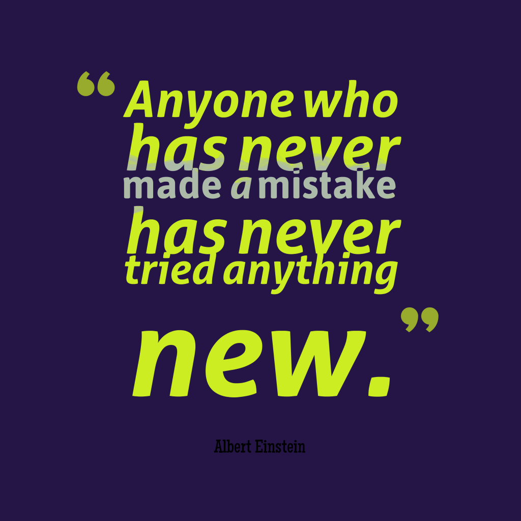 Albert Einstein quote about mistake.