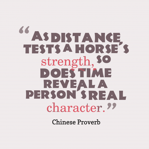 Chinese quote about testing.