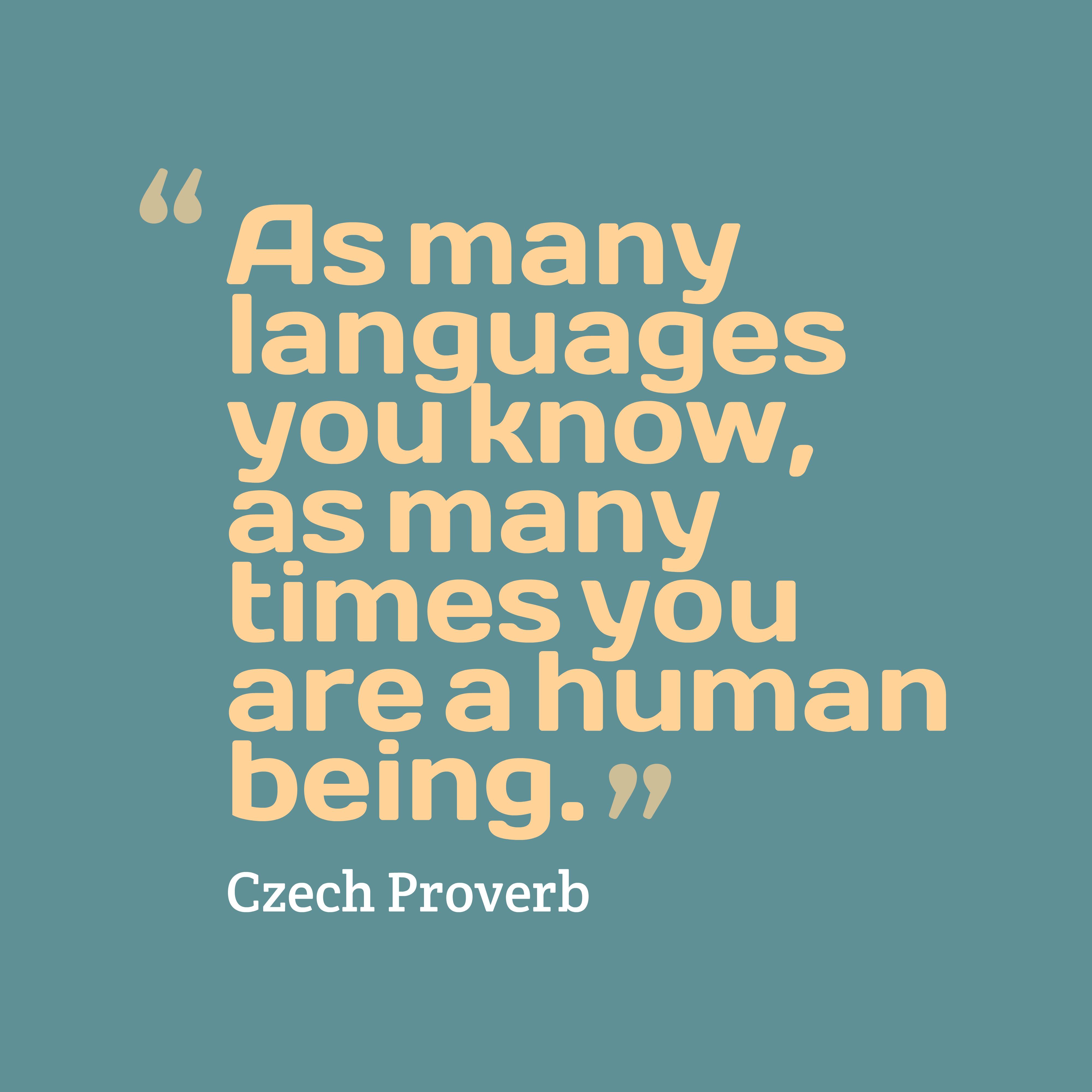 Czech Wisdom About Languages