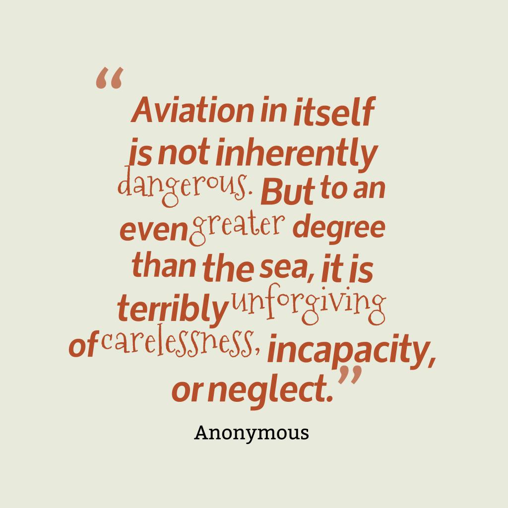 Aviation in itself