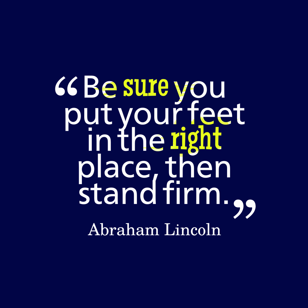 Abraham Lincoln quote about persistence.