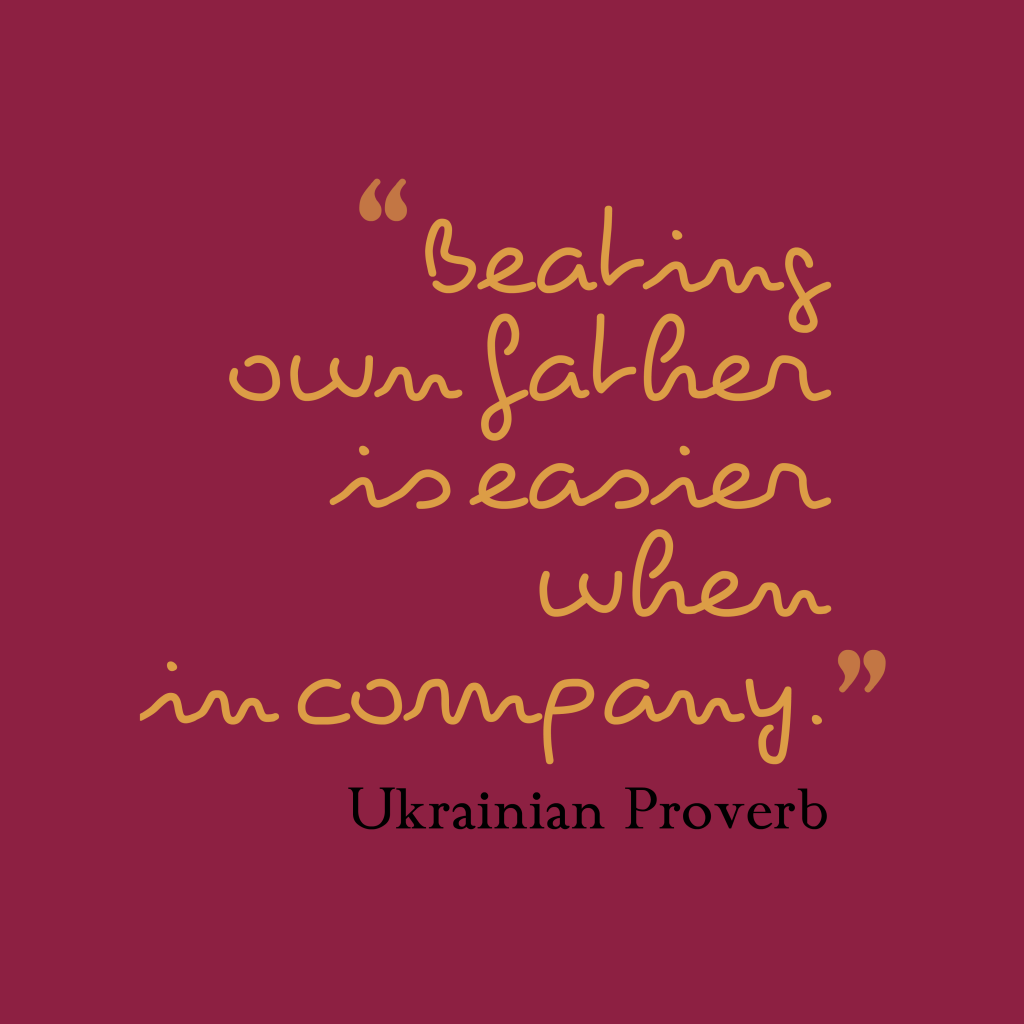 Ukrainian proverb about corporate.