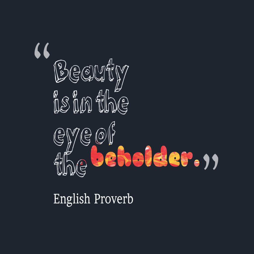 Picture English proverb about beauty. | QuotesCover.com