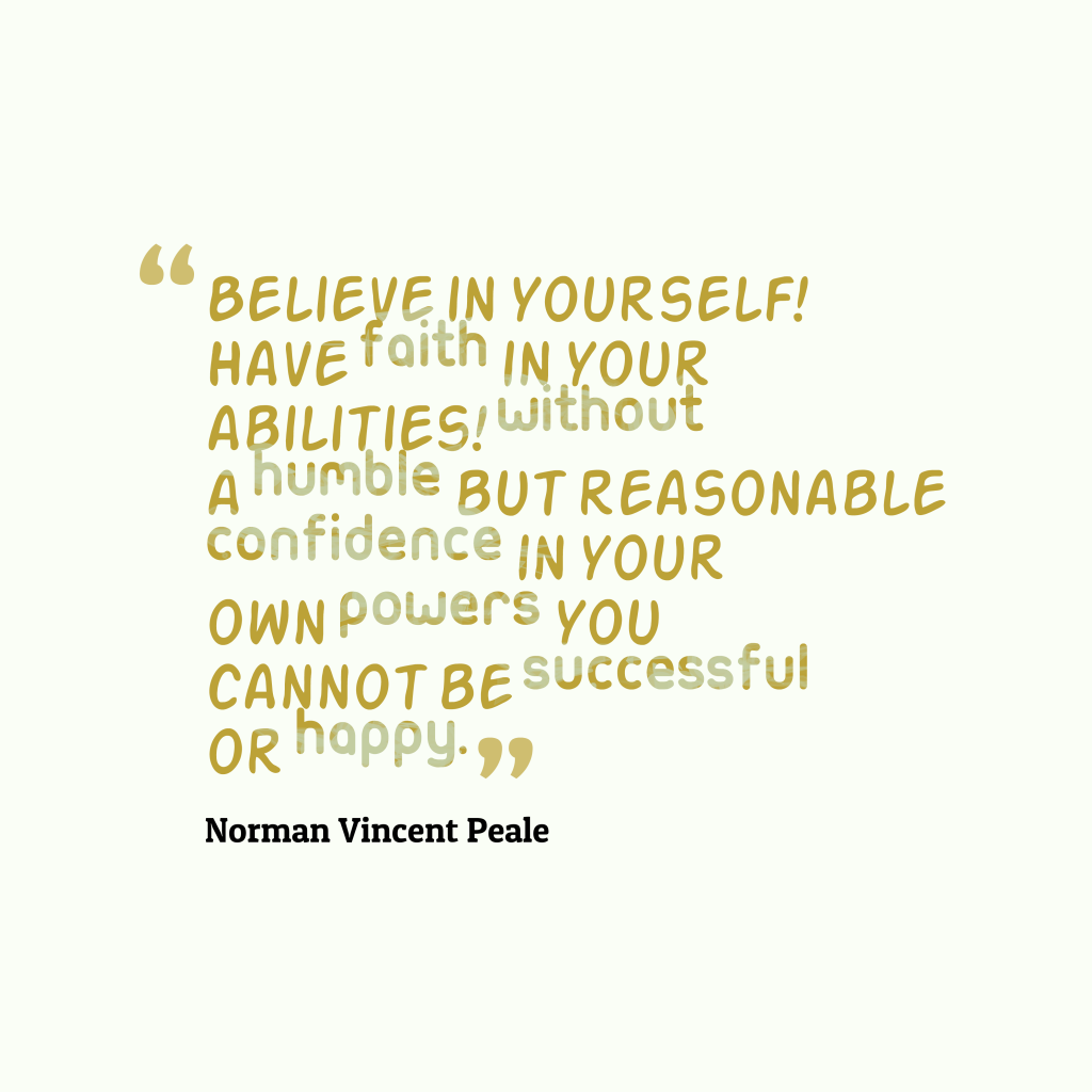 Norman Vincent Peale quote about faith.