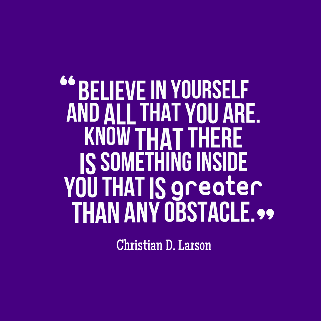 Christian D. Larson quote about confidence.