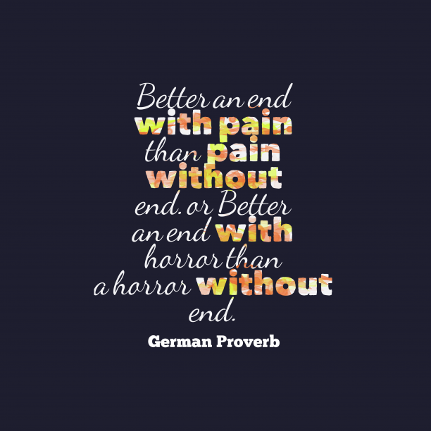 German wisdom about losses.