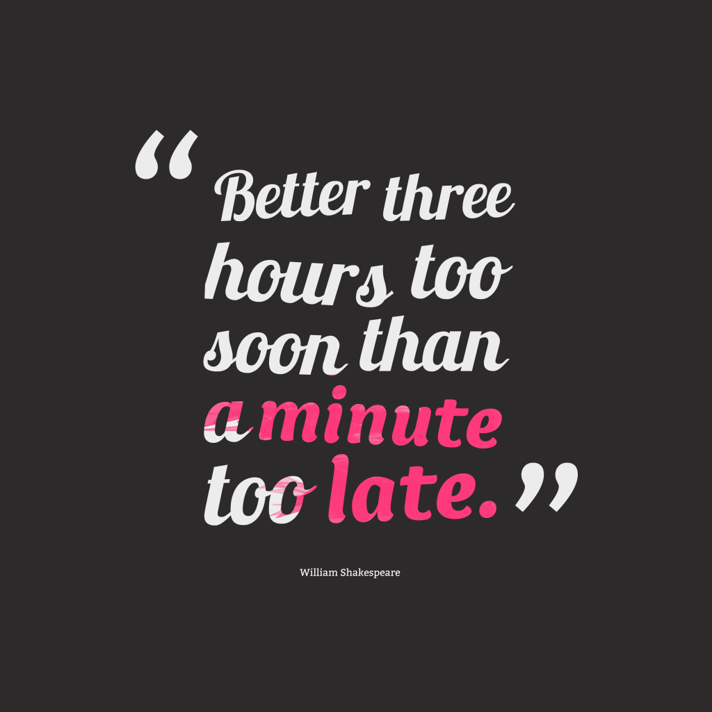 William Shakespeare quote about time.