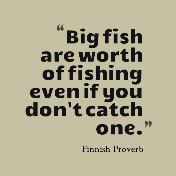 Finnish proverb about profit.