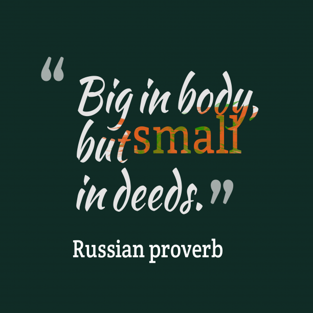 Russian wisdom about body.