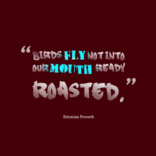 Estonian Wisdom 's quote about Bird. Birds fly not into our…
