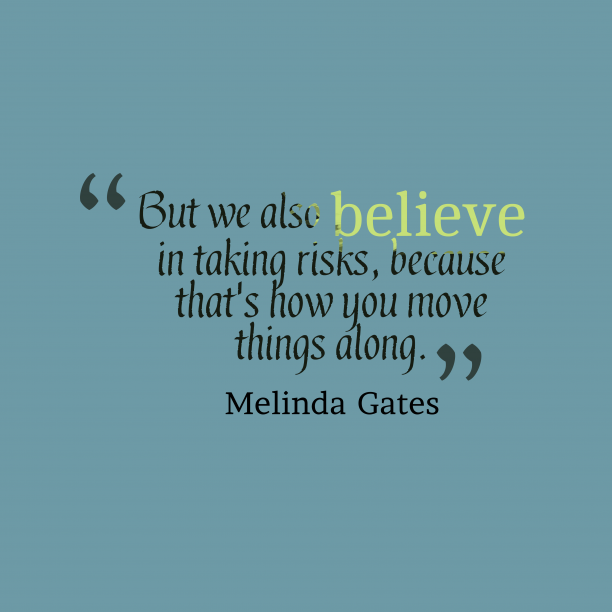 Melinda Gates quote about chance.